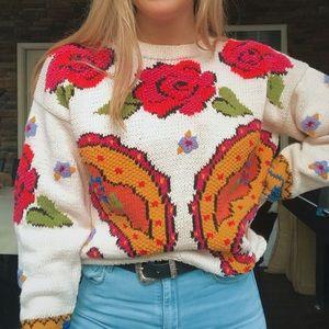 Floral Vintage Sweater